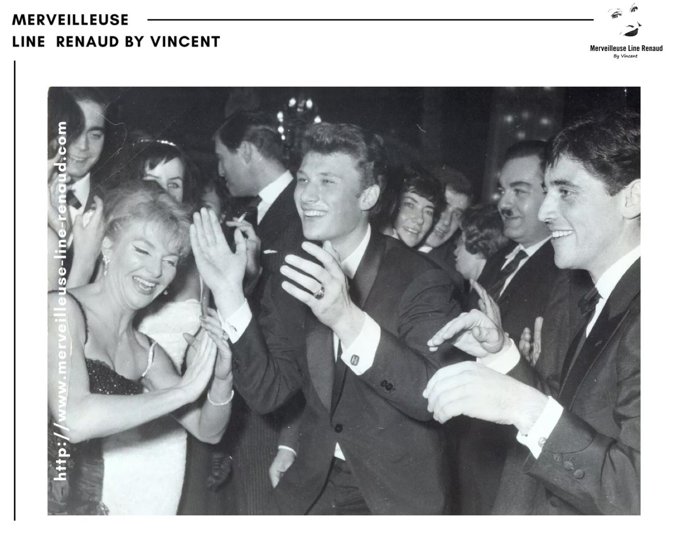 PHOTOS: Sacha Distel, Johnny Hallyday et Line Renaud (2 Photos)