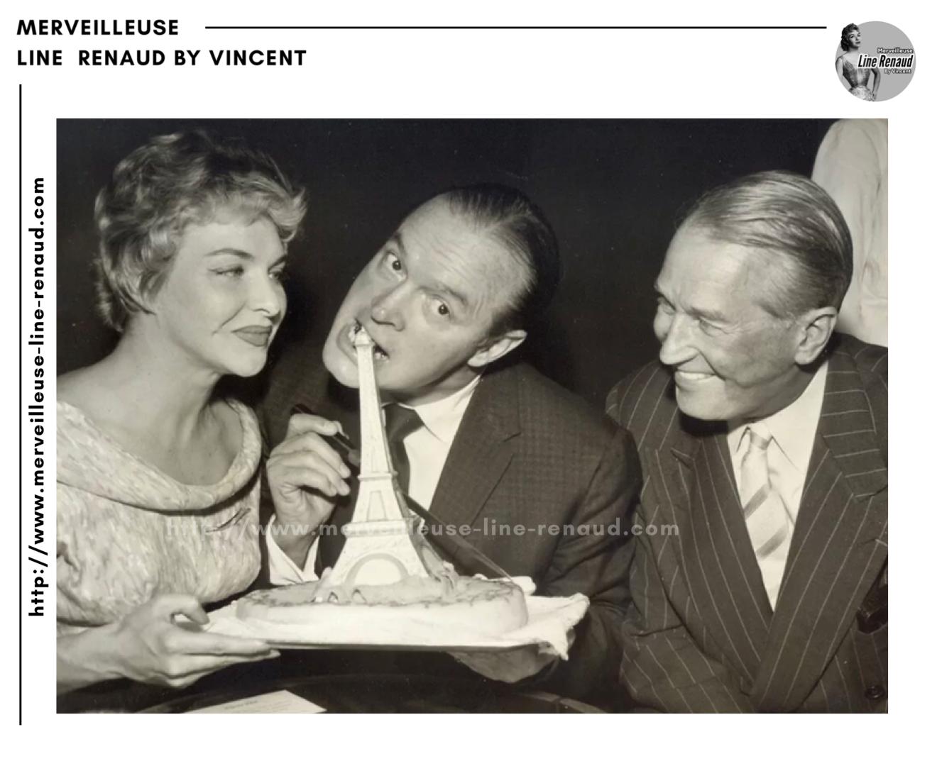 PHOTOS: Line Renaud, Bob Hope et Maurice Chevalier