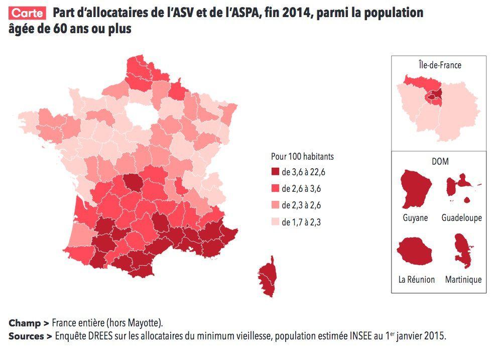 Population Concernee Par Le Minimum Vieillesse En France Le