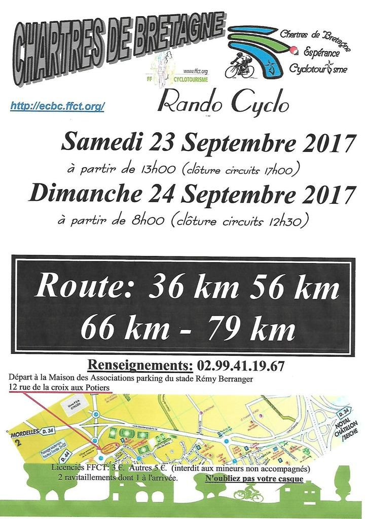 Chartres de Bretagne le 23 et 24 Septembre 2017
