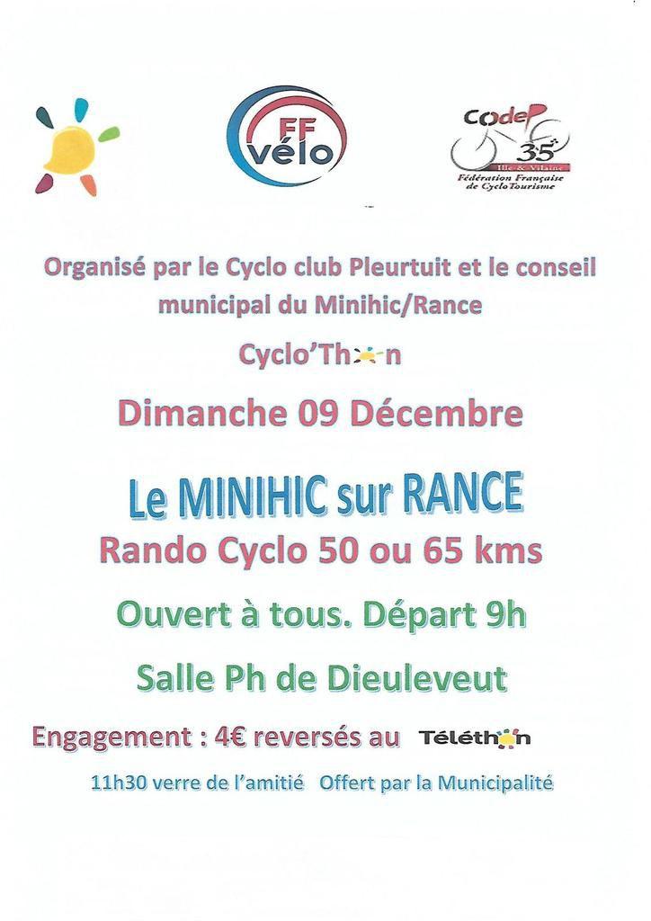 Le Minhic sur Rance Cyclo' Thon Dimanche 9 Décembre 2018