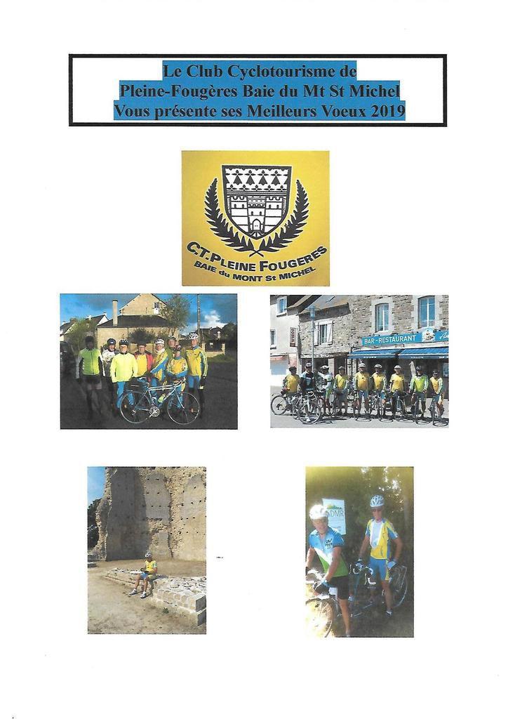 Les Voeux du Club Cyclo de Pleine Fougères