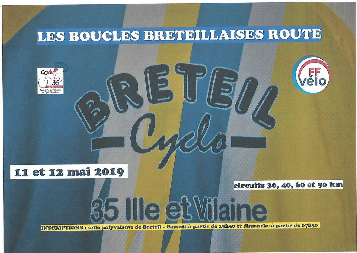 Les Boucles Bréteillaises Route le Samedi 11 et Dimanche 12 Mai 2019