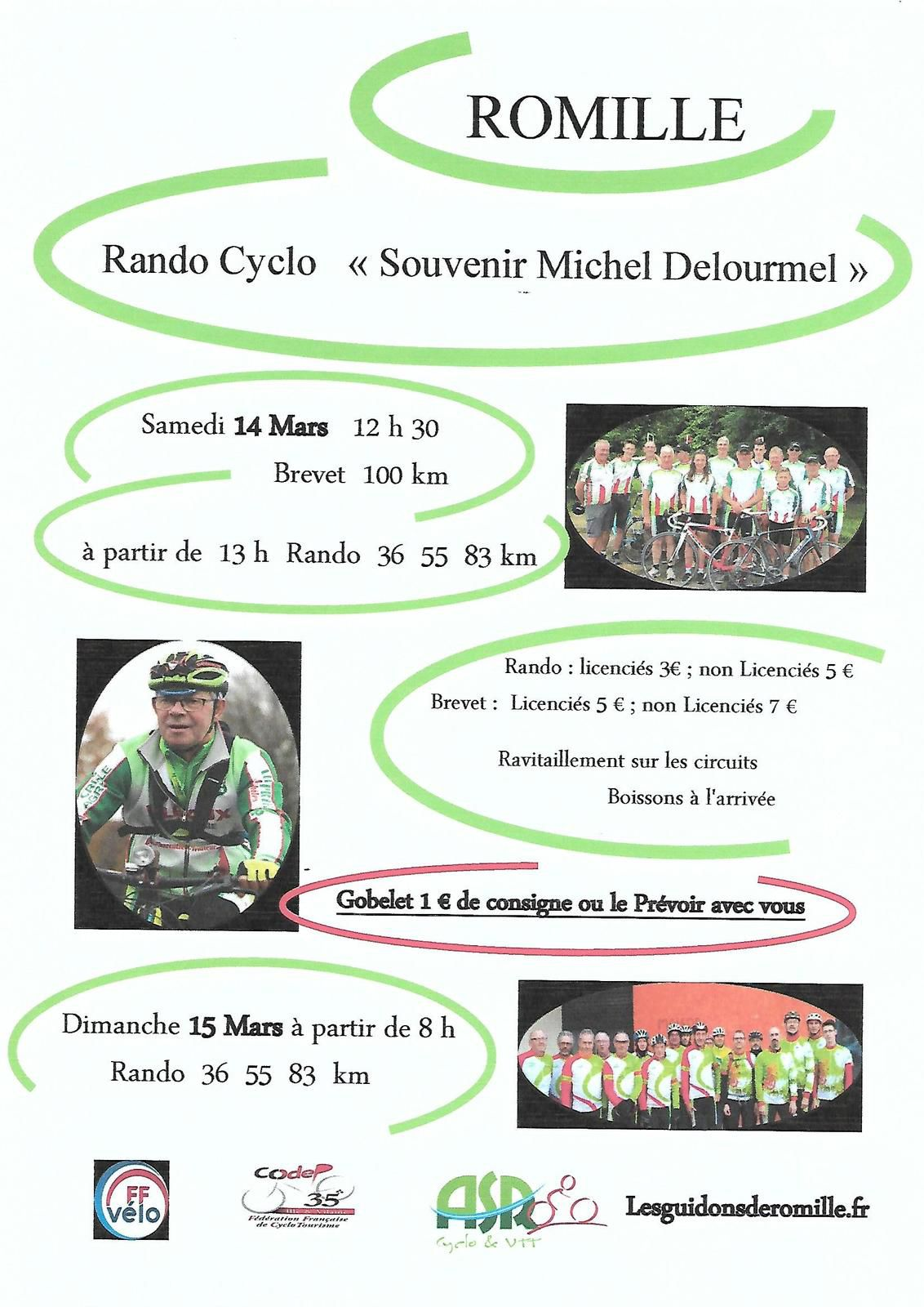 """Romillé le 14 et 15 Mars 2020 """" Souvenir Michel Delourmel"""""""