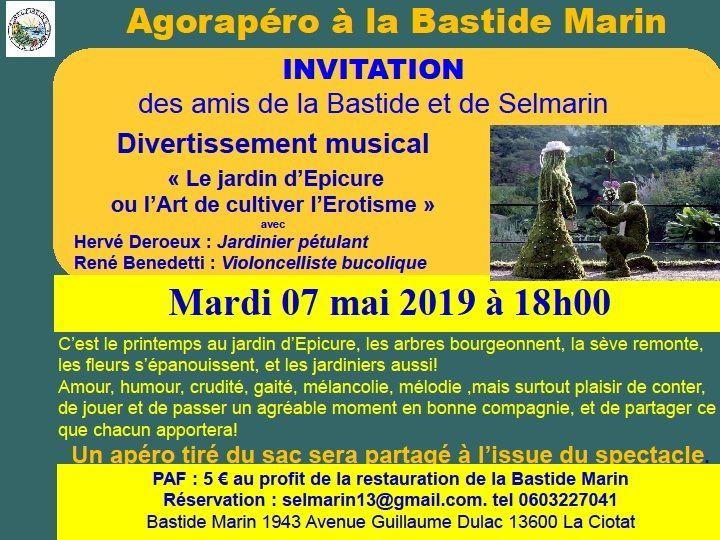 RDV Mardi 7 mai - Agorapéro de la Bastide MARIN à 18h