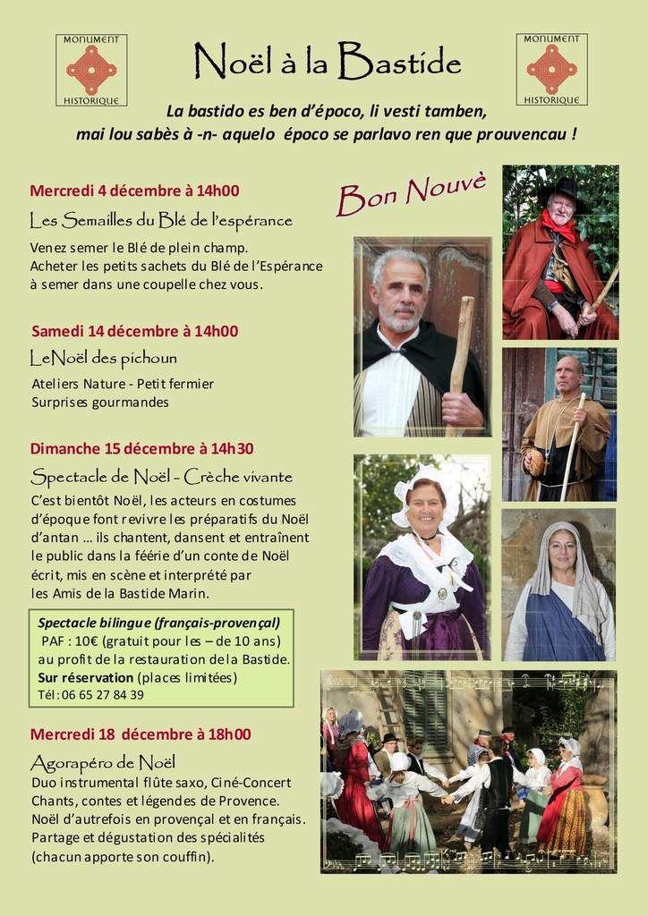 Noël à la Bastide MARIN - Programme