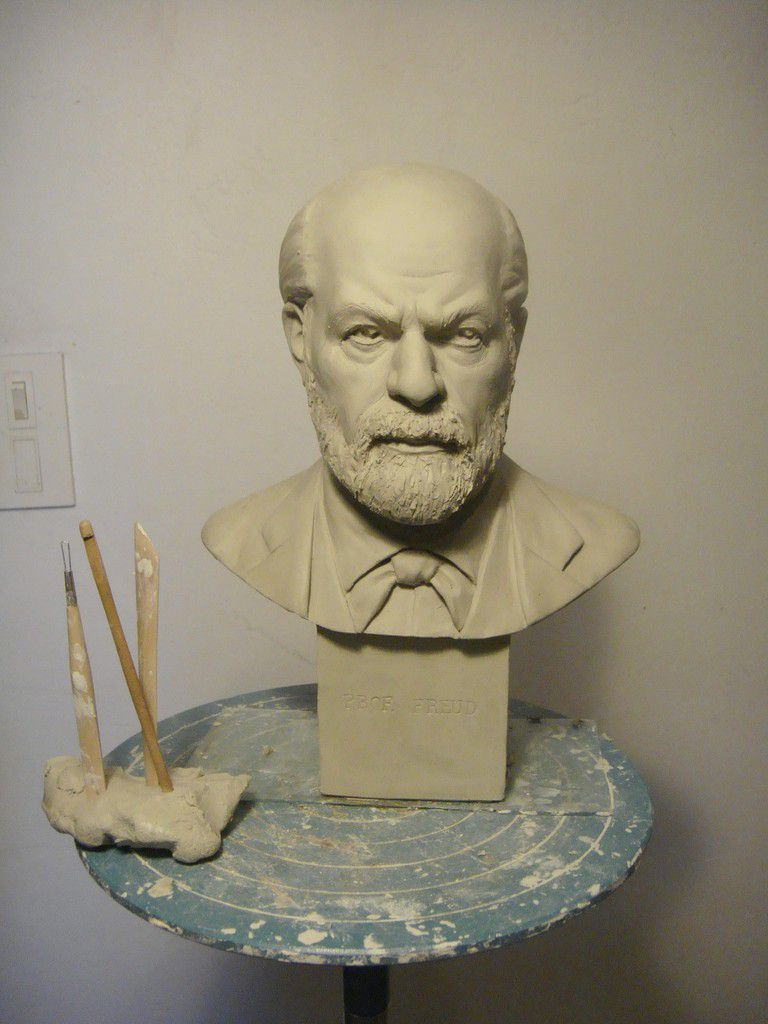 portrait sculpture freud
