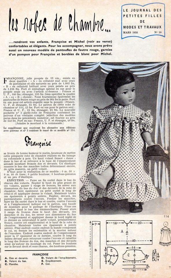 Emilie Lise et la robe de chambre de mars 1958