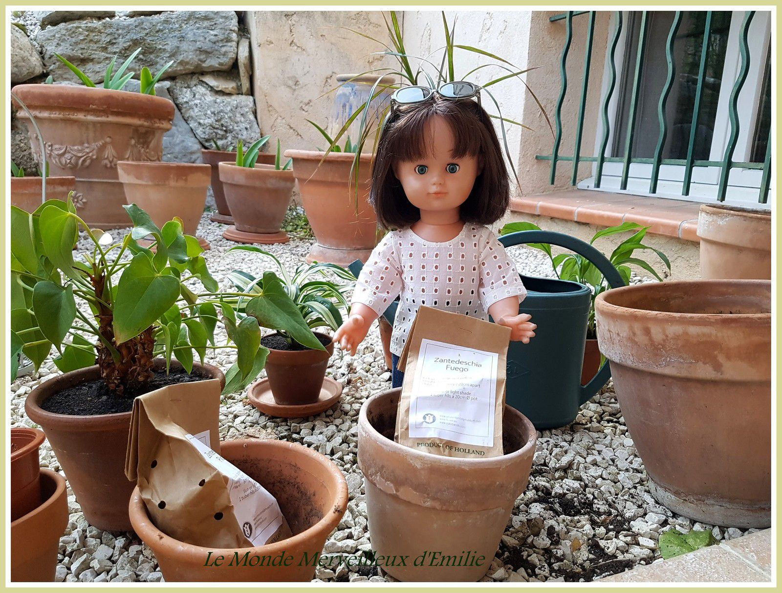 Emilie Lise fait du jardinage M&T avril 2018