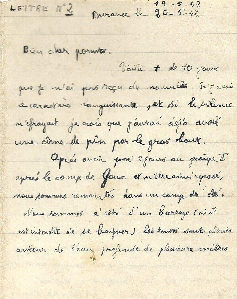 Albert Jarlier Lettre du 19 mai 1942 page 1
