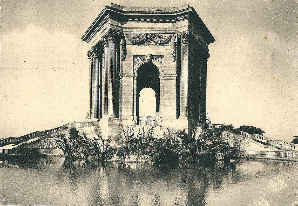 Albert Jarlier lettre depuis Montpellier le 20 août 1946 recto (Le château d'eau)