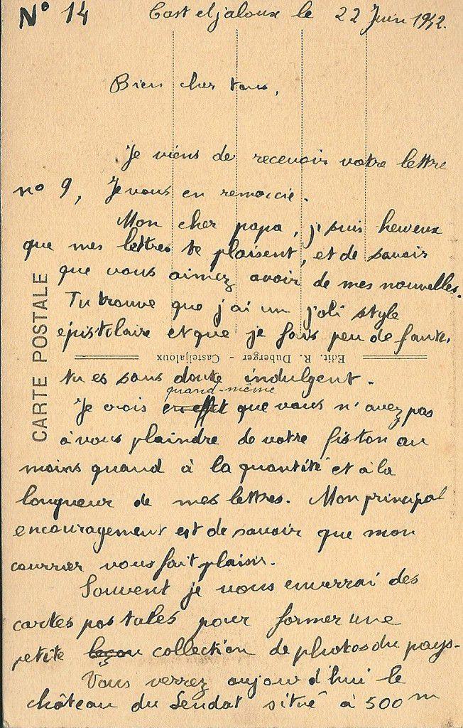 Albert Jarlier Lettre du 22 mai 1942 page 2