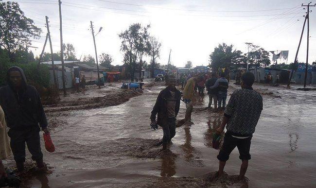 Scène durant la saison des pluies en Ethiopie