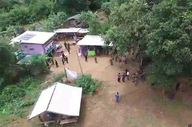 Une maison appartenant à un ancien dirigeant de la branche de Kanchanaburi de l'Administration provinciale de l'électricité empiéte sur une réserve forestière.