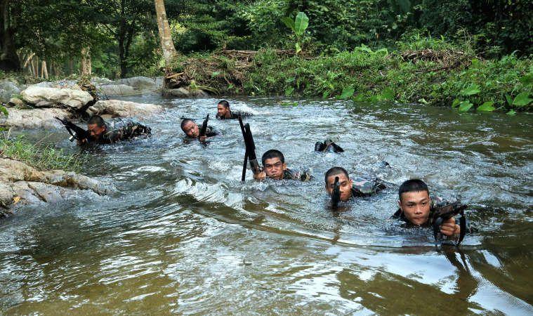L'entrainement des gardes forestiers en Thaïlande