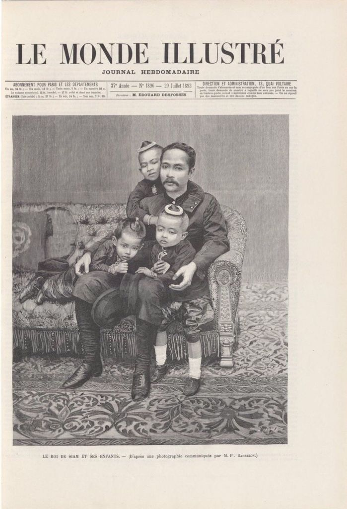 SM Rama V dans le journal l'illustration