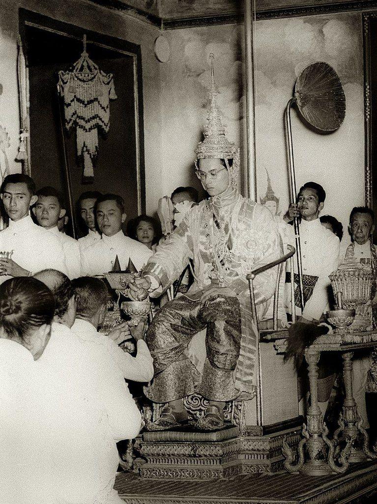Couronnement du roi Rama IX en 1950