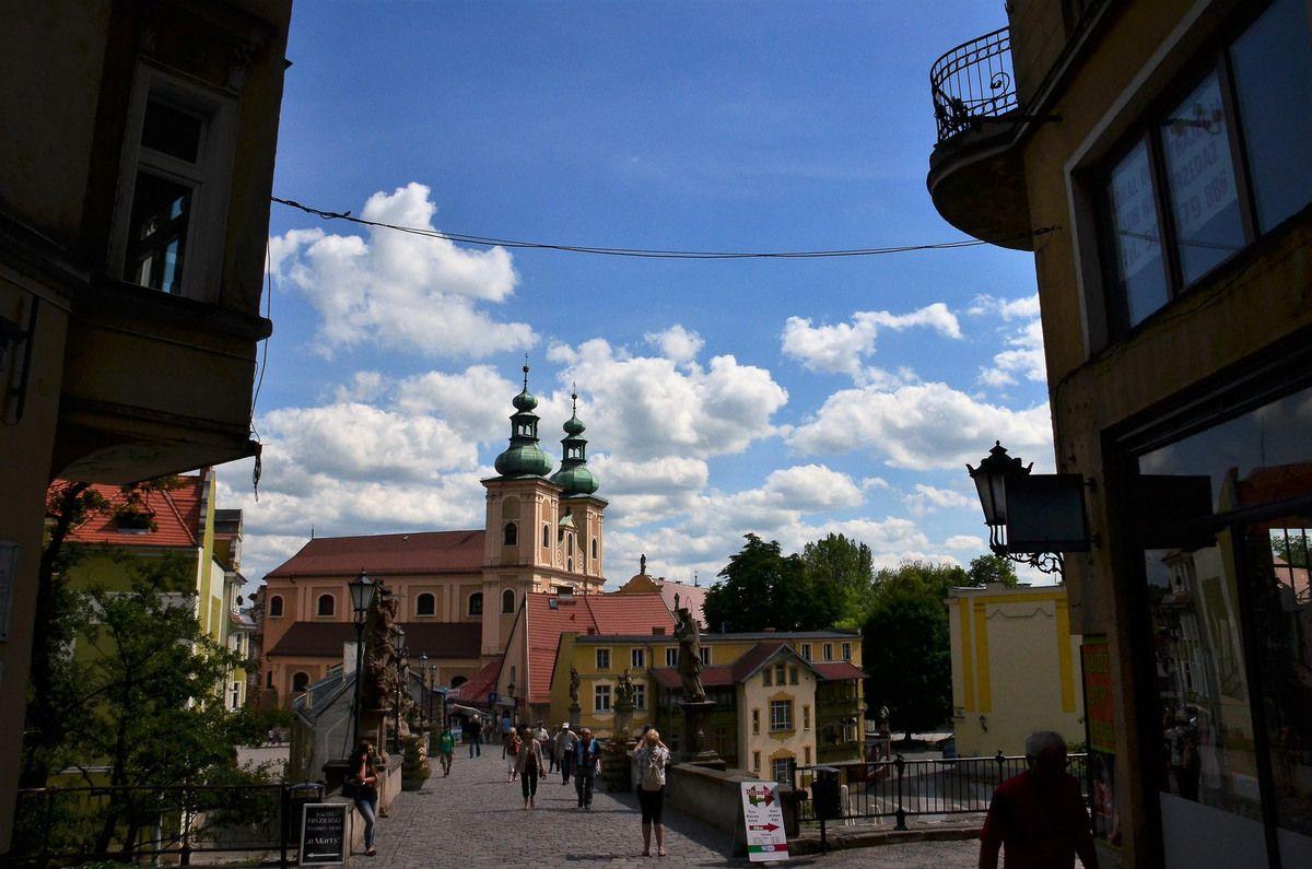 Klodzko - Pont st Jean et l'eglise de l'Assomption