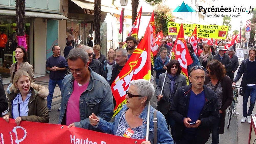 Manifestation à Tarbes