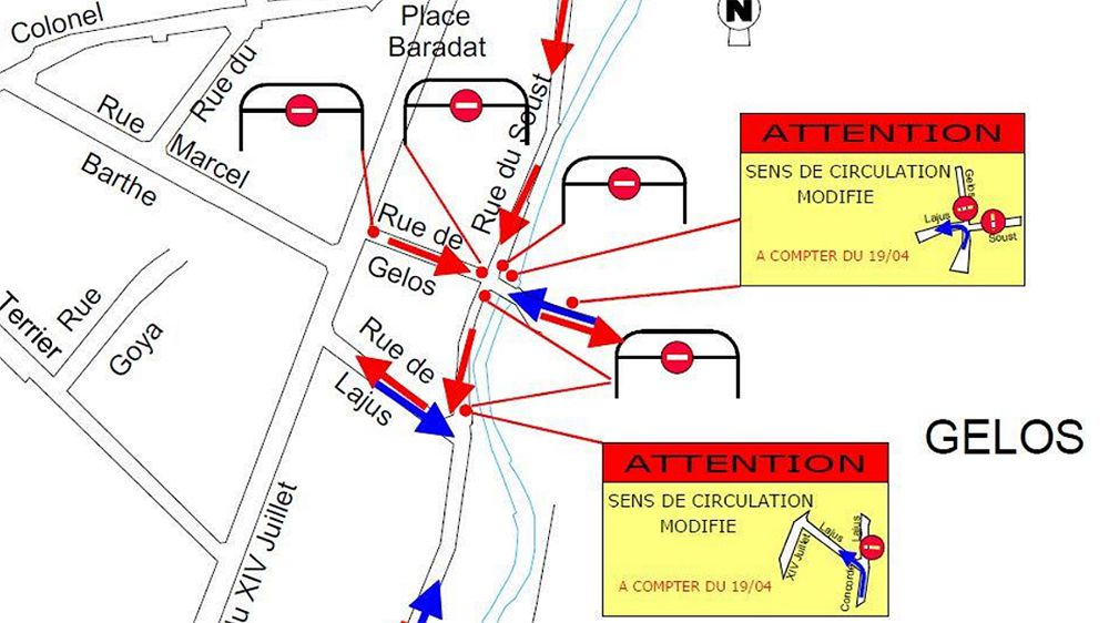 Circulation à Pau