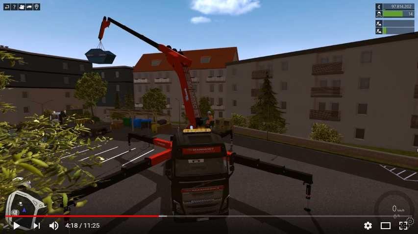 simulation camion grue effer grues auxiliaires effer sur camion appydro. Black Bedroom Furniture Sets. Home Design Ideas