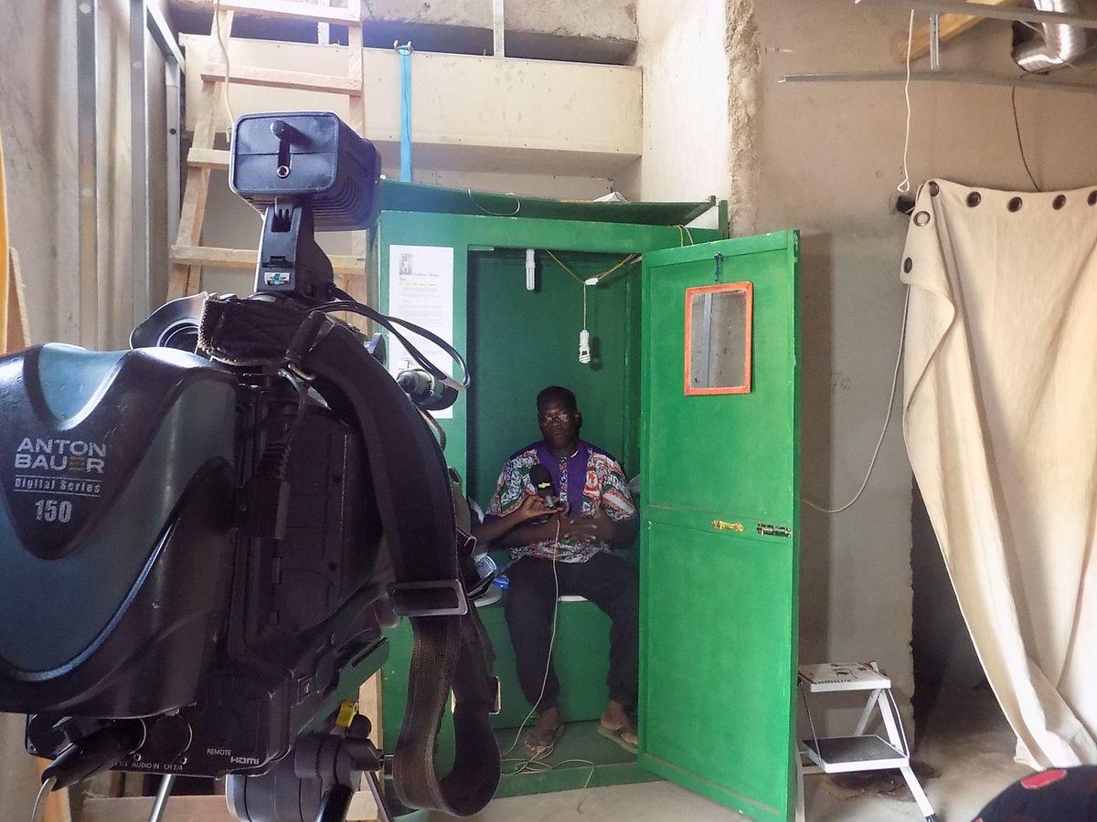 Interview en direct de la cabine