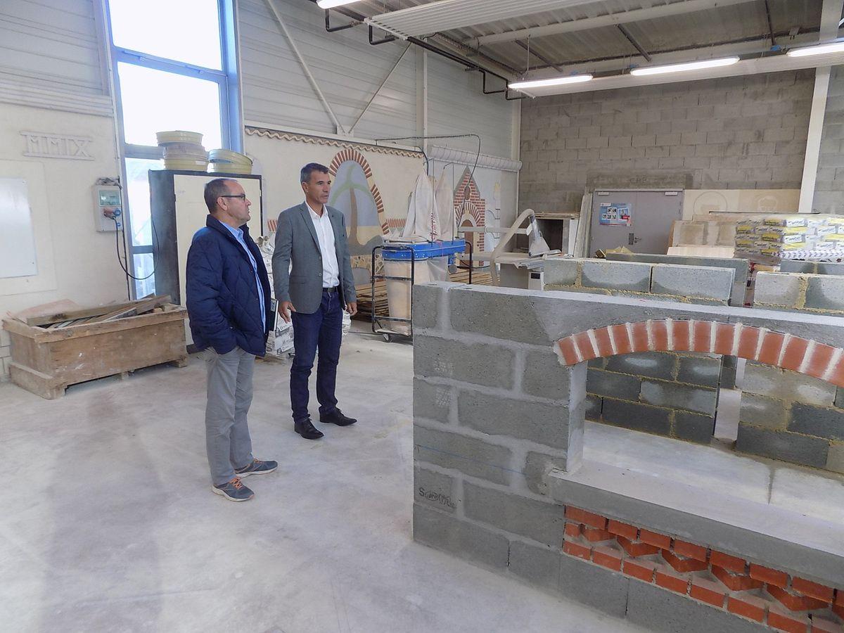 Yann Jallier Directeur du CFA et François Leduc
