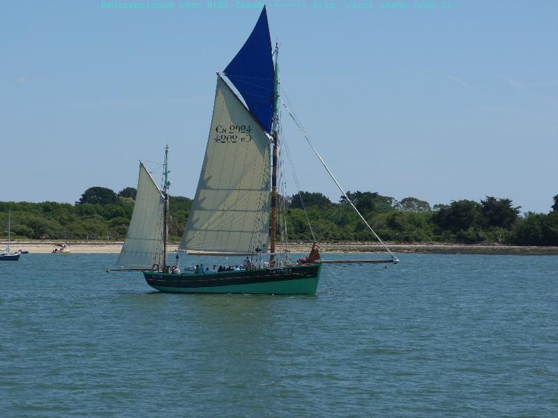 23/05/2017 Dejeuner coisiére sur le bateau le Jules Verne, tour du goll et promade sur l'ile aux moines