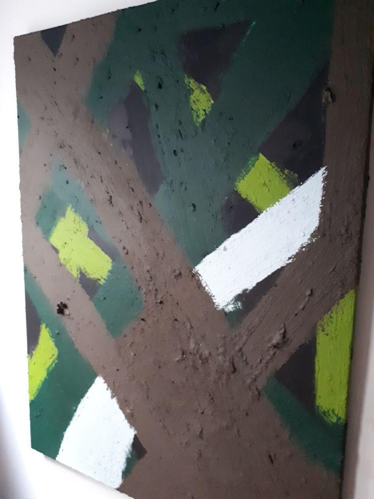 Acrylique sur toile, format 60 F (130/97 cm), réalisation novembre 2017