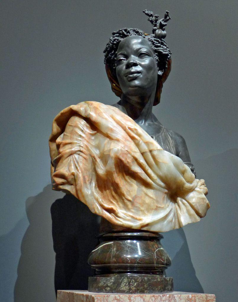 Charles Cordier - Capresse des Colonies (1861) - Albâtre, bronze argenté et oxydé, bronze doré et marbre cervelas - PARIS, MUSEE D'ORSAY