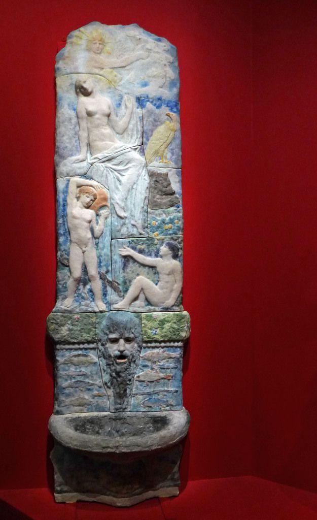 Henry Cros - Fontaine murale : histoire de l'eau (1894) - Pâte de verre - PARIS, MUSEE D'ORSAY