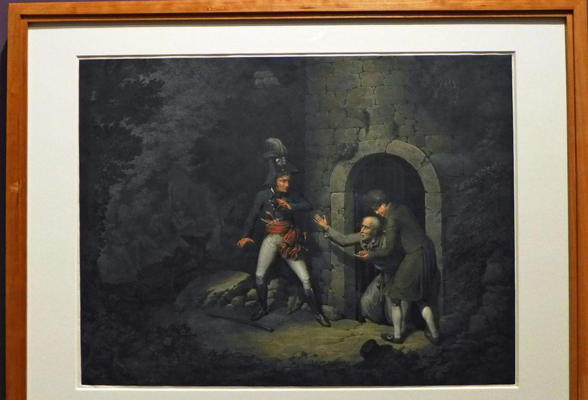 Georg Emmanuel Opiz - C'est la voix de mon père !  (Après 1800) - gouache et rehauts de blanc sur crayon graphite sur papier.