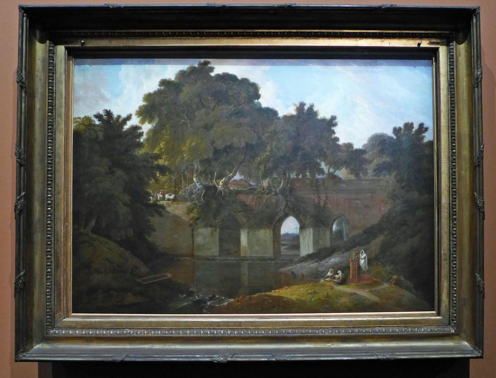 Thomas Daniell, Idgah au Amroha (1810) - Pont près de Rajmahal dans le Bihar (1827)