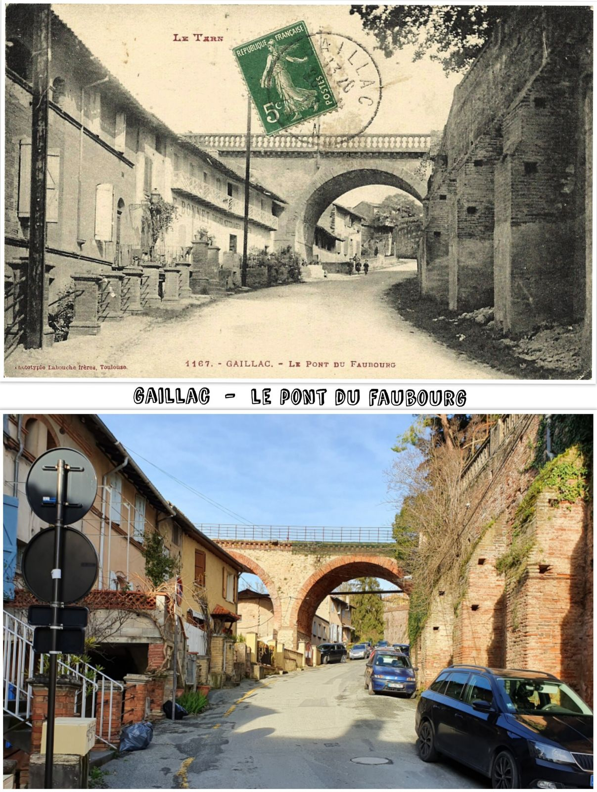 ● Vues d'Antan & d'Aujourd'hui de Gaillac, Tarn.