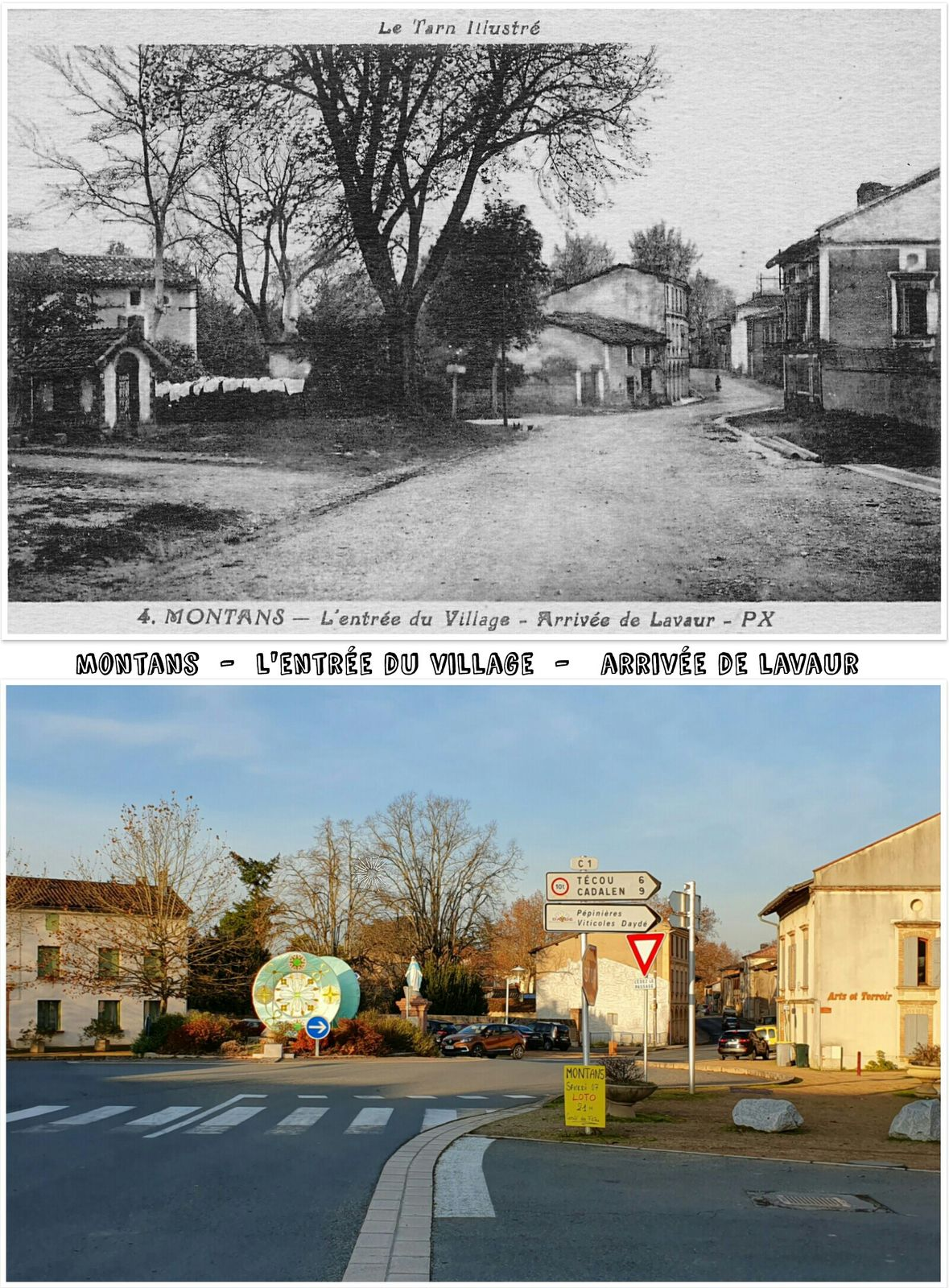 ● Antan/Aujourd'hui dans le Gaillacois, Tarn.