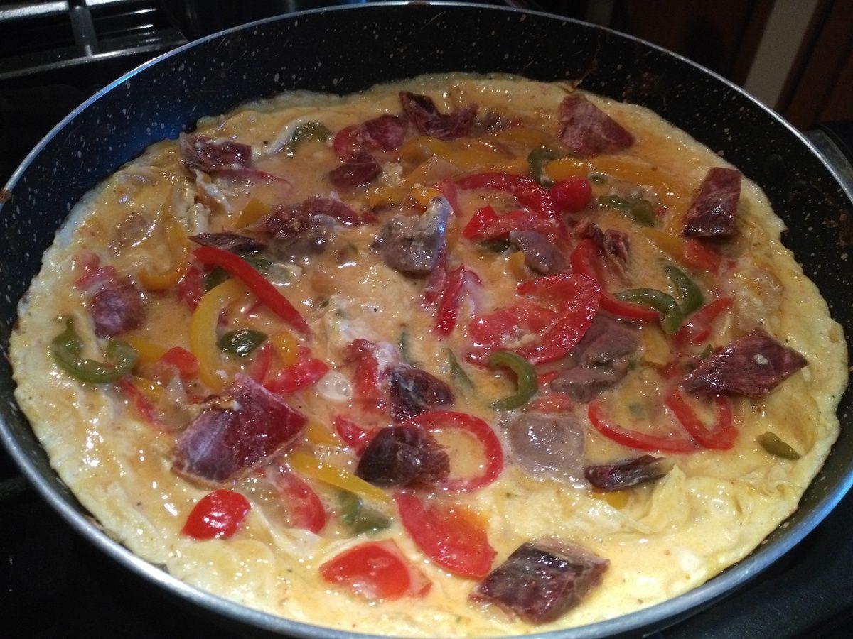 omelette poivrons