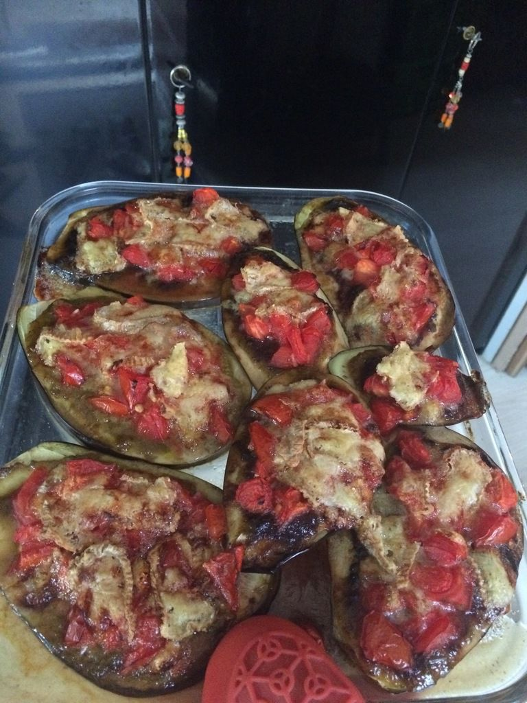 Aubergines rôties au four