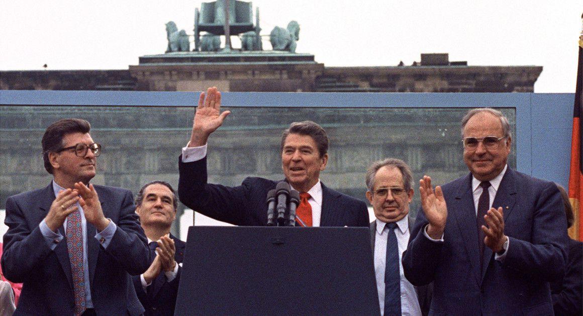 Reagan à Berlin le 12 Juin 1987