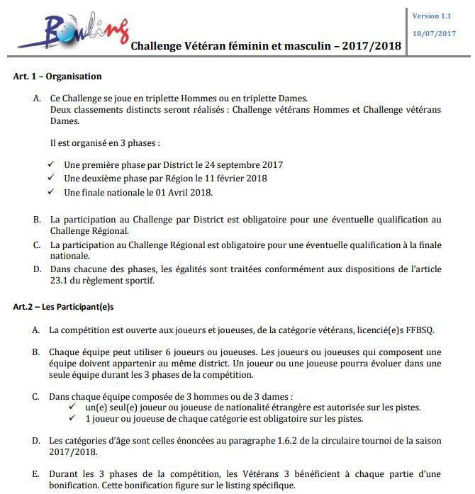 CHALLENGE FÉDÉRAL VÉTÉRAN 23/09 MAJ 04/09