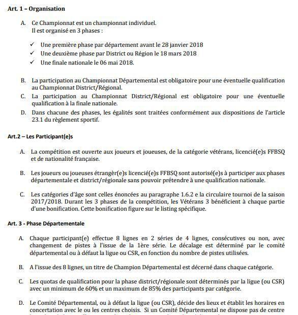 CHAMPIONNATS VÉTÉRANS PERTUIS Samedi et dimanche 4/5 Novembre