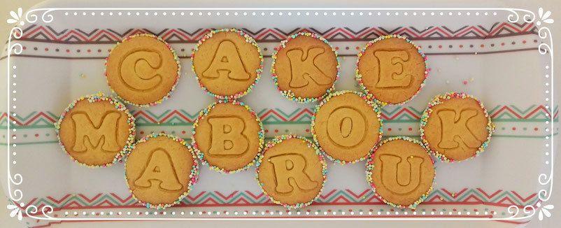 Biscuits cakemabrouk découpoirs alphabet