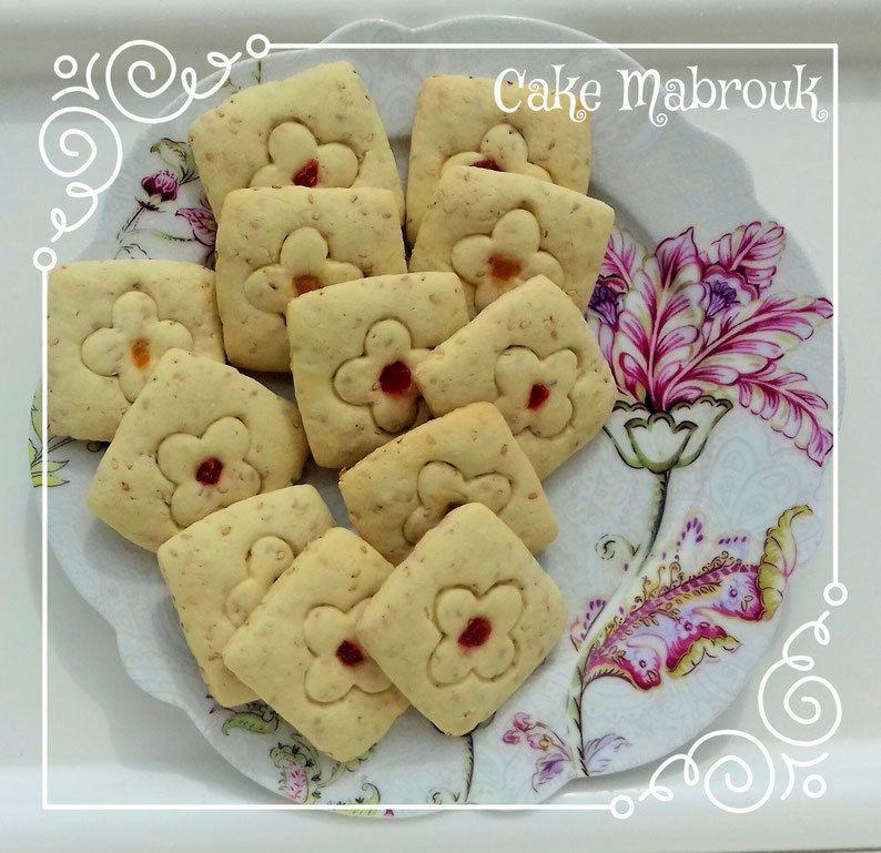 Carrés algériens aux grains de sésame cacahuète et fruits confits