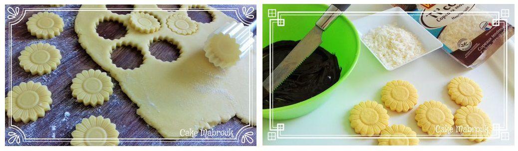 Biscuits Marguerite chocolat copeaux de noix de coco de vahiné