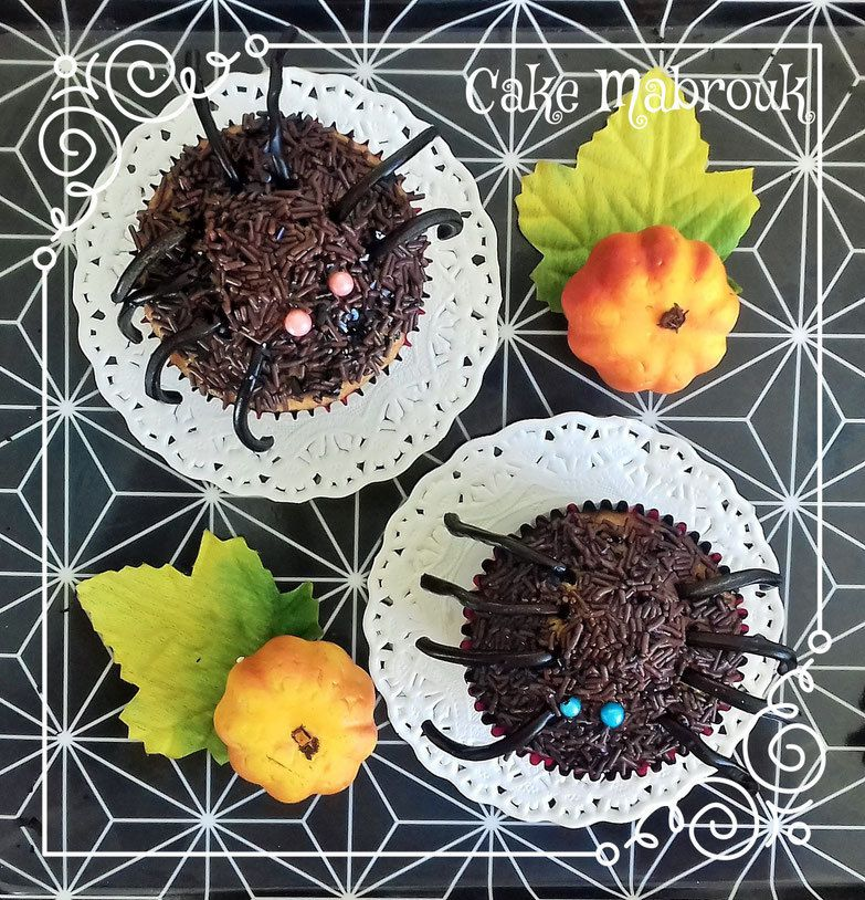 Cupcakes araignées idées halloween