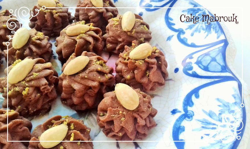 Petits fours rochers au chocolat duchesse