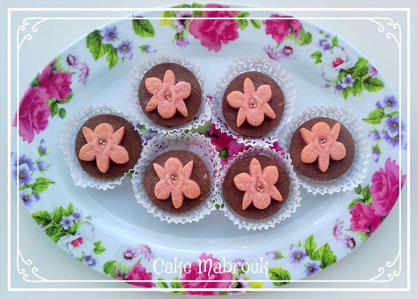 Sablés au chocolat orchidée à la framboise