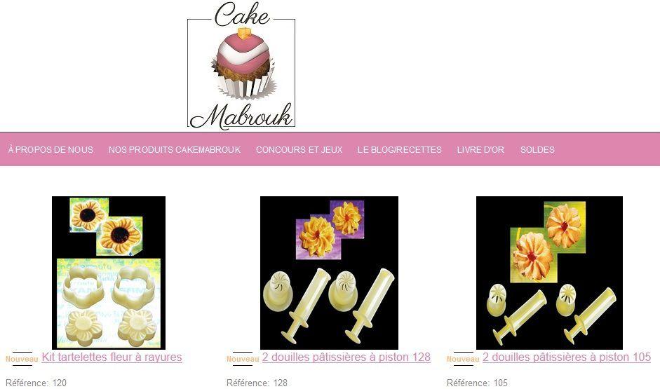 Nouveautés Cakemabrouk tartelettes fleurs, douilles à petits fours