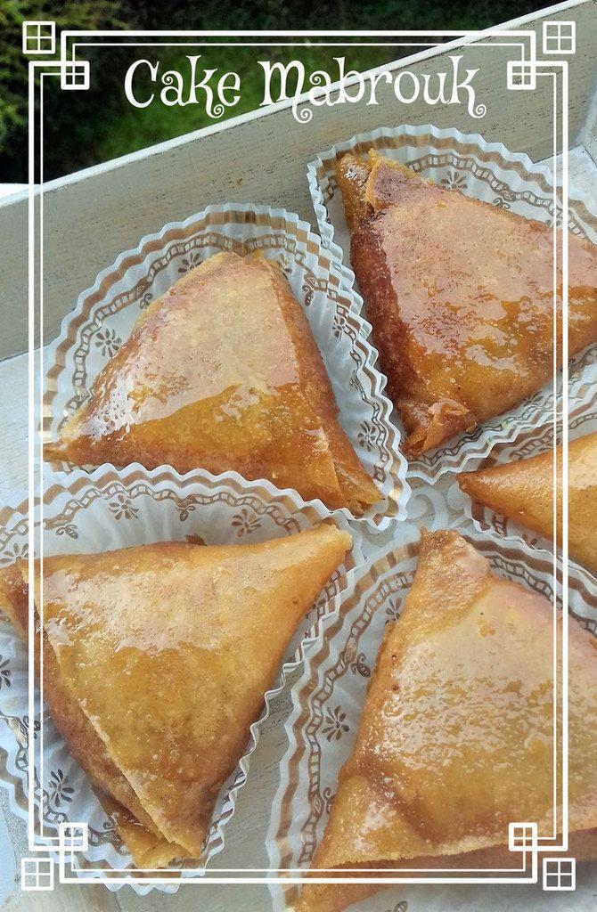 Recette des briouates pâtisserie orientale triangles aux amandes