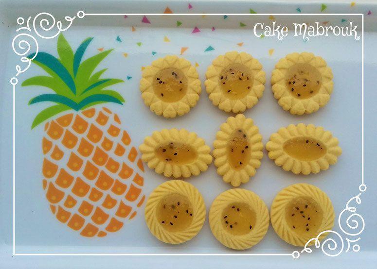 Tartelettes confiture ananas kiwi