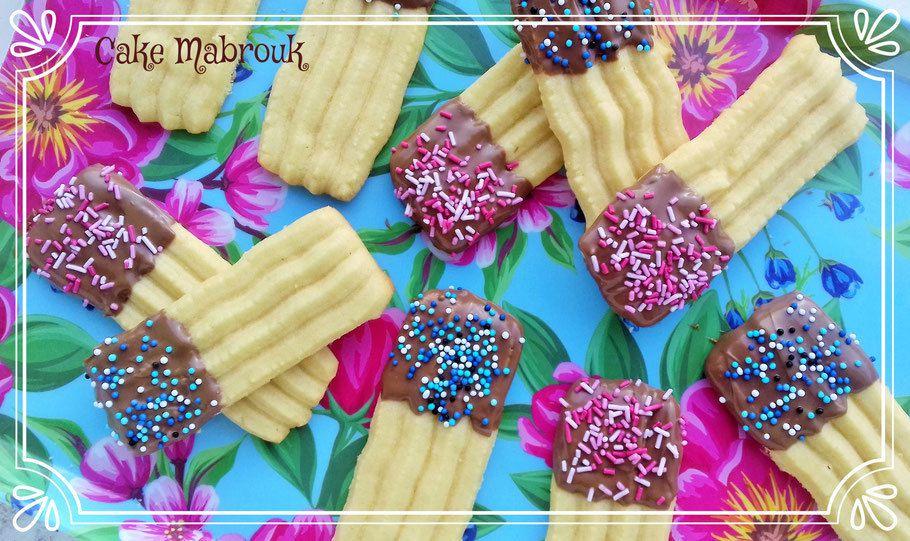 Gâteaux fondants à la presse à biscuits au chocolat milka